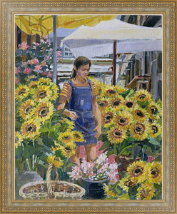 Постер в раме The Sunflower Seller