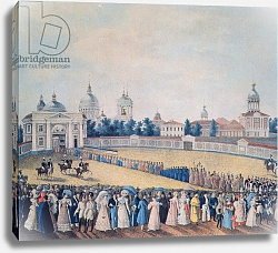 Постер Школа: Русская 19в. The Visit of Alexander I to the Alexander Nevsky Monastery, 1821