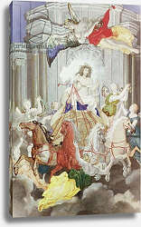 Постер Вернер Джозеф Triumph of King Louis XIV of France driving the Chariot of the Sun preceded by Aurora