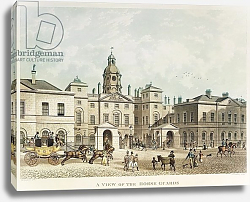 Постер Шепард Томас (последователи) A view of the Horse Guards from Whitehall engraved by J.C Sadler