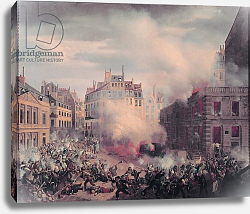 Постер Хагнауер Евген The Burning of the Chateau d'Eau at the Palais-Royal, 24th February 1848