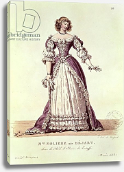 Постер Леком Ипполит Madame Moliere, nee Armande Bejart in the role of Elmire in 'Le Tartuffe' by Moliere