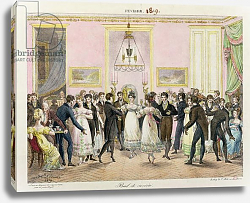 Постер Леком Ипполит A Society Ball, engraved by Charles Etienne Pierre Motte 1819