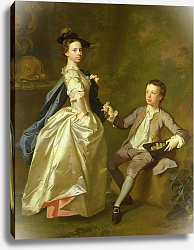 Постер Рамзай Алан The Hon. Rachel Hamilton and her brother, the Hon. Charles Hamilton, 1740