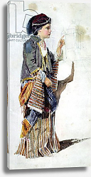 Постер Эбсолон Джон Figure of a girl in Turkish costume, 19th century