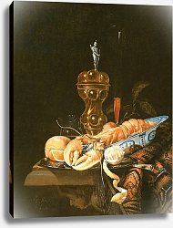 Постер Стрик Юриан A Still Life with a Lobster in a Delft Bowl