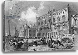 Постер Праут Самуель The Grand Canal and Doge's Palace, Venice, engraved by Charles Westwood, 1844
