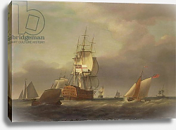 Постер Холман Франсис A Seascape with Men-of-War and Small Craft