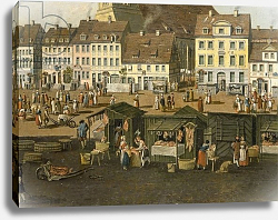 Постер Фешхельм Карл Т. The New Market in Berlin with the Marienkirche c.1770