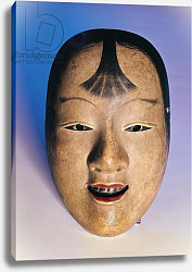 Постер Школа: Японская Noh theatre mask of a young boy called Kasshiki, 15th-19th century