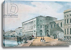 Постер Школа: Русская 19в. The Hermitage Theatre as Seen from the Vassily Island, 1822