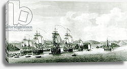 Постер Школа: Французская 18в. A View of the Island of St.Lucie, engraved by P.C Canot