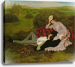 Постер Сзиней Мерсе The Lovers, 1870
