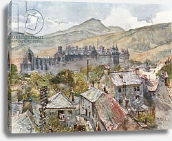 Постер Фулейлав Джон Holyrood Palace from the Public Gardens under Calton Hill