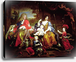 Постер Мигнар Пьер The Grand Dauphin with his Wife and Children, 1687