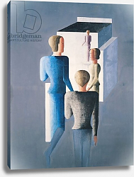 Постер Шлемер Оскар Four Figures and a Cube, 1928