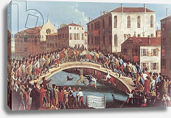 Постер Белла Габриэль Battle with Sticks on the Ponte Santa Fosca, Venice