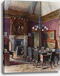 Постер Флауер Чарльз The Treasury Board Room, office of the Chancellor of the Exchequer