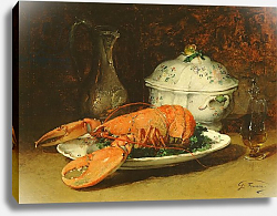 Постер Фойяс Гвильям Still Life with a Lobster and a Soup Tureen