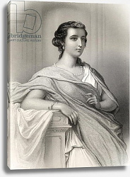 Постер Стаал Пьер (грав) Aspasia of Milet illustration from 'World Noted Women' by Mary Cowden Clarke, 1858
