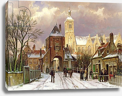 Постер Коеккок Уильям Winter Scene in Amsterdam