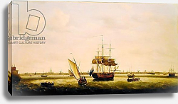 Постер Холман Франсис The Frigate 'Surprise' at Anchor off Great Yarmouth, Norfolk, c.1775