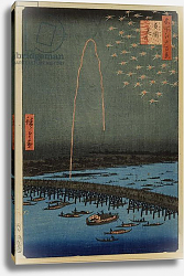 Постер Утагава Хирошиге (яп) Fireworks at Ryogoku, from the series 'One Hundred Famous Views of Edo'