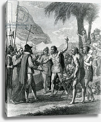 Постер Вест Бенджамин An Indian Cacique of the island of Cuba addressing Columbus concerning a future state, 1794