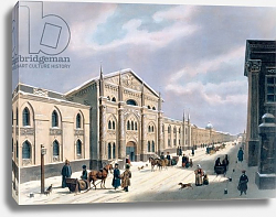 Постер Школа: Русская 19в. The Synodal Printing house at Nikolyskaya street on Moscow, 1840s