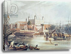 Постер Гендаль Джон View of the Tower of London, engraved by Daniel Havell pub. in Ackermann's Repository of Arts, 1819