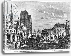 Постер Торигни Феликс (грав) Paris, demolition of a part of the Cite to extend the buildings of the new Hotel-Dieu
