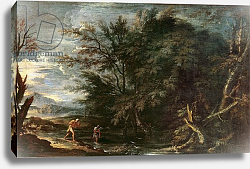 Постер Роза Сальватор Landscape with Mercury and the Dishonest Woodman, c.1650