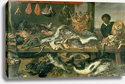 Постер Снайдерс Франц The Fish Market, 1618-21