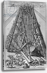 Постер Фонтана Карло Erecting the Ancient Egyptian Obelisk in St. Peter's Square, Rome, engraved by Alessandro Specchi 2