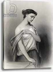 Постер Стаал Пьер (грав) Lucretia, illustration from 'World Noted Women' by Mary Cowden Clarke, 1858
