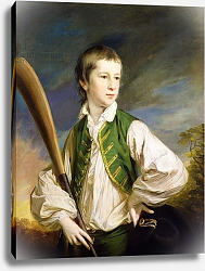 Постер Коте Франсуа Charles Collyer as a boy, with a cricket bat, 1766