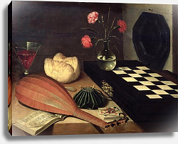 Постер Баугин Любин Still Life with Chess-board, 1630