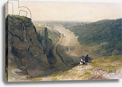 Постер Данби Франсис The Avon Gorge, looking over Clifton, c.1820