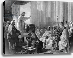Постер Лоо Чарли St. Augustine preaching before Valere, Bishop of Hippo