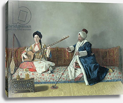 Постер Лиотард Йен Monsieur Levett and Mademoiselle Helene Glavany in Turkish Costumes