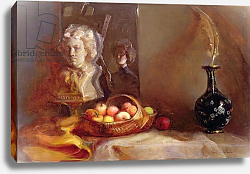 Постер Шулман Гейл (совр) Still Life with Apples and Beethoven's Bust