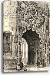 Постер Школа: Английская 19в. Gateway of the Cathedral, Segovia, illustration from 'Spanish Pictures' by the Rev. Samuel Manning