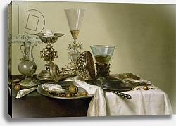 Постер Хеда Уильям Still Life with Oysters and Nuts, 1637