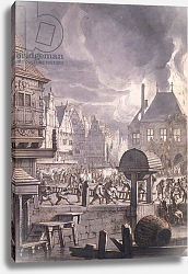 Постер Хейден Ян Fire at the Old Town Hall in Amsterdam, 17th July 1652