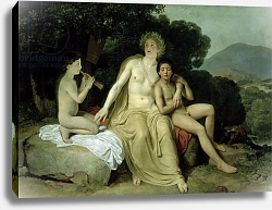Постер Иванов Александр Apollo with Hyacinthus and Cyparissus Singing and Playing, 1831-34