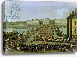 Постер Берто Жак The Imperial Procession Returning to Notre Dame for the Sacred Ceremony 1804, Crossing the Pont-Neuf