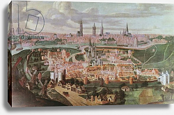 Постер Иере Лукас Panoramic view of the city of Ghent at the end of the 16th centur