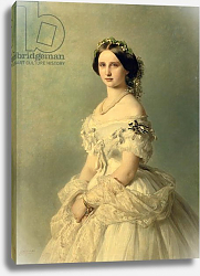 Постер Винтерхальтер Франсуа Portrait of Princess of Baden, 1856