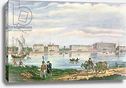 Постер Школа: Русская 19в. The Marble Palace and the Neva Embankment in St. Petersburg, 1822