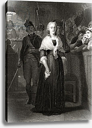 Постер Деларош Ипполит Marie Antoinette before the Revolutionary Tribunal Court, October 14 1793, by William French
